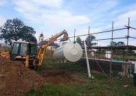 Realizace nádrže a trativodu